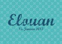 Geburtskarte / Faire-part de naissance «Pattern turquoise» #cardswithlove