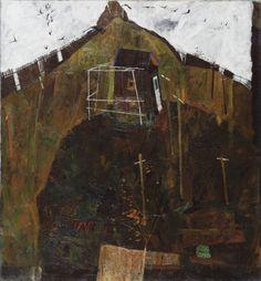 Egon Schiele: landscape with ravens, 1911
