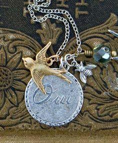 Oui Medallian Necklace - Silver - for erin.