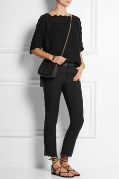 Étoile Isabel Marant|Axel embroidered georgette top|NET-A-PORTER.COM