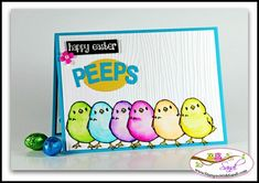 Stampin Up honeycomb Happiness - Happy Easter Peeps card by Sandi @ www.stampinwithsandi.com