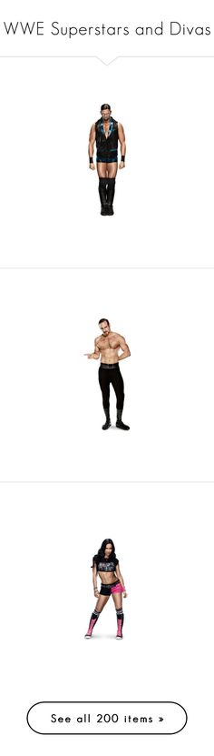 """""""WWE Superstars and Divas"""" by imblissedoff ❤ liked on Polyvore featuring wwe, aj lee, people, wwe diva, wwe figures, home, home decor, aksana, accessories and superstars"""