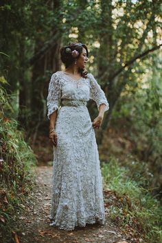 Edwardian vintage crochet wedding dress, Californian wedding, Brittany Esther wedding photography