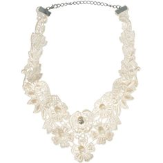 Asos Lace Pearl Choker Necklace ($14) ❤ liked on Polyvore