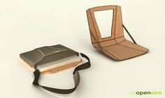 Pretty awesome. Considering how much time I spend on my laptop in the middle of nowhere...thesis, here I come! Openaire - Laptop Case/Workstation  by Nick Trincia, via Behance
