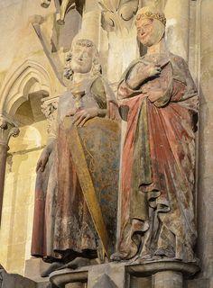 Hermann von Meißen and Reglindis - sculpture at Naumburg Cathedral