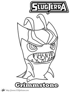 Free Halloween Coloring Page Featuring Grimmstone From Slugterra