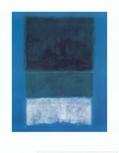 No. 14 White and Greens in Blue art print by Mark Rothko