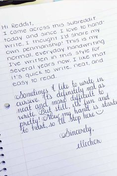 Click through to see 25 AMAZING examples of PERFECT handwriting! Both standard handwriting and glorious Spencerian script cursive