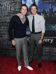 James and Oliver Phelps- they are two of my favorite HP characters