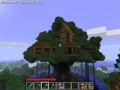 Epic Minecraft treehouse by HunterZz