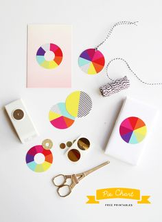 Free printable pie chart gift tags