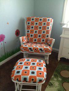 Custom Made Glider Rocker And Ottoman Replacement Cushion Covers 150 By Silly Grandmas Sewing