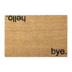 Love this hello/goodbye doormat!