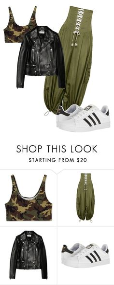 """""""Power Play"""" by popart101 ❤ liked on Polyvore featuring Puma, Yves Saint Laurent and adidas"""