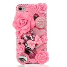 Amazon.com: Nova Case 3D Bling Crystal iPhone Case for AT Verizon Sprint Apple iPhone 4/4S Pink Fairy Tale: Cell Phones & Accessories