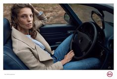 Daria Werbowy for AG Jeans Fall 2015 Ad Campaign