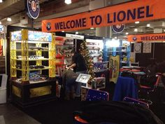 Lionel's display at a toy fair