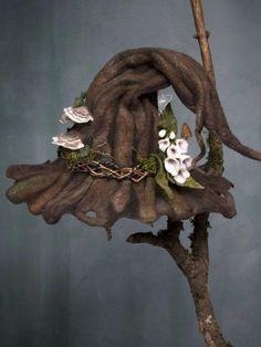 Ellafancy Brown Accessories All Season Cotton-Blend Accessories – ellafancy Halloween Hats, Vintage Halloween, Halloween Clay, Happy Halloween, Boho Hat, Woodland Fairy, Vintage Witch, Custom Hats, Wet Felting
