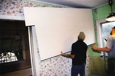 Using drywall to cover cracked plaster provides an economical way to give an old room a new look. Home Renovation, Home Remodeling, Farmhouse Renovation, Hanging Drywall, Plaster Repair, Cracked Wall, Old Room, Home Fix, Old Wall