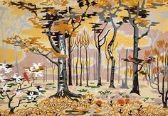 Charles Burchfield,Landscape with trees and birds, 1925 Nature Paintings, Watercolor Paintings, Watercolor Trees, Watercolor Artists, Watercolours, Painting Art, Landscape Paintings, Future Artist, Psy Art