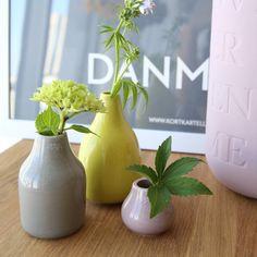 Kahler (ケーラー)ボタニカ ミニチュア フラワーベースライト 3個セット 花瓶 陶器日本正規代理店品