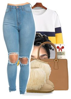 """""""#38:"""" by chilly-gvbx ❤ liked on Polyvore featuring Prada and UGG Australia"""
