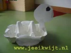 eendje van eierdoos