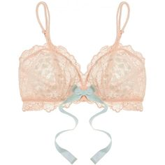 Eberjey Piper stretch-lace soft-cup bra ($71) ❤ liked on Polyvore featuring intimates, bras, pink, stretch lace bra, pink bras, eberjey, soft cup bra and eberjey bras