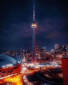 Toronto Skyline, Cn Tower, Night, Halloween, Building, Travel, Instagram, Viajes, Buildings