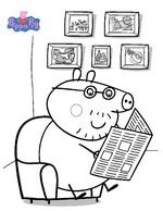 20 coloring pages of Peppa Pig