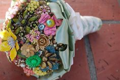 The Gracie Heirloom Bouquet by Vaughndesigns on Etsy, $264.00