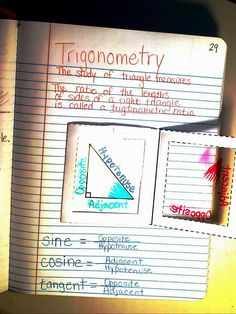 Atwood's Math Class: Intro to Trigonometry.great use of transparencies! Math Tutor, Math Teacher, Math Classroom, Teaching Geometry, Teaching Math, Math Resources, Math Activities, Math Tips, Math Notes