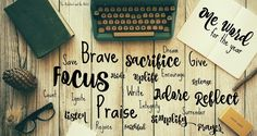 {Affiliate links used.} Sometimes a good thing is a small thing. No long list of to-do's. No grandiose plans. Just one small wo. Word 365, One Word, Word Of The Day, 2017 Word, Journal Writing Prompts, Happiness Project, Life Inspiration, Words Quotes, Sayings