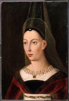 Portrait d'Isabelle de Bourbon, seconde femme de Charles le Téméraire, Ecole flamande