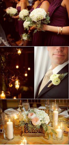 Like that purple color, white bouquet combo