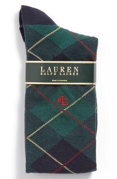Ralph Lauren Argyle Plaid Knee High Socks | Nordstrom