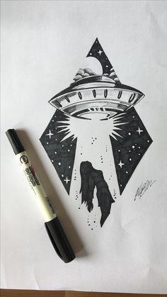 Futura tattoo. Draw, vetor, abdução .