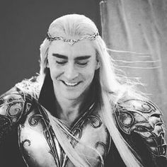 Thranduil chuckling to himself when he hears Legolas' news about Galadwen.(Queen of Mirkwood and Wife of Legolas,more like shipwife)