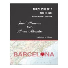 Shop Barcelona Spain Save the Date Announcement created by marlenedesigner. Wedding Stationery, Wedding Invitations, Good Cheer, Barcelona Spain, Personal Photo, Our Wedding, Wedding Ideas, Celebrity Weddings, Smudging