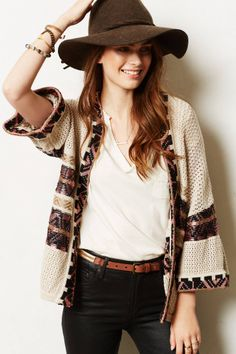 Nomade Cardigan - #anthrofave cute hat too
