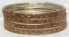 Glitter+Bangles+with+Mirrors+(Metal)