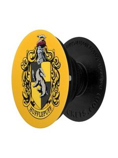 Are you just and loyal, and unafraid of toil? If the Sorting Hat would have put you in Hufflepuff, then this PopSocket is just what your phone needs! In the iconic yellow and black colours, this House Crest portrays a humble Badger. If you dwell amongst t Arte Do Harry Potter, Harry Potter Disney, Harry Potter Bedroom, Harry Potter Houses, Harry Potter Outfits, Harry Potter Facts, Harry Potter Love, Hufflepuff Merchandise, Harry Potter Merchandise