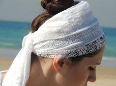 SALE PURE WHITE kundalini  Headwrapyoga head by yaelisbloom