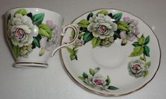Tuscan Gardenia Cup and Saucer Fine English by EricksonExchange