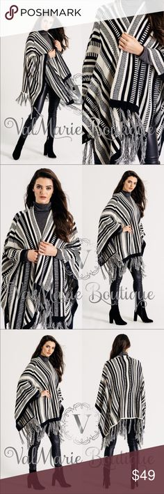 Premium Knit Shawl Cardigan Poncho Sweater wrap I cannot say enough amazing things about this sweater poncho wrap! One size fits 0-14! Wrap yourself in luxury and stay warm in the cold months. Looks stunning with leather leggings. 100% acrylic. Get one now! ValMarie Sweaters