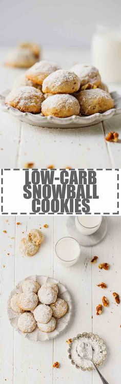 Walnut Snowball Cookies - gluten and sugar-free low-carb and Keto friendly these cookies are soft sweet and delicious. Made with 5 ingredients these have turned into my go to low-carb Christmas cookies. via Cooking LSL Easy Cookie Recipes, Paleo Recipes, Low Carb Recipes, Sweet Recipes, Ketogenic Recipes, Snowball Cookies, Bakery Recipes, Christmas Cooking, Low Carb Desserts