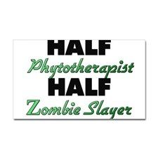Half Phytotherapist Half Zombie Slayer Sticker for