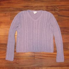 J.Crew lilac v-neck sweater Size medium. Lilac. 100% cotton. Arm length measures 23 inches. Width measures 20.5 inches. Length measures 19.5 inches. In great condition. Feel free to ask me any questions J. Crew Sweaters V-Necks