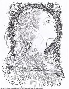 Elvish by Art Nouveau `Saimain on deviantART - art nouveau meets celtic, gorgeus